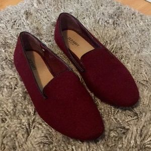 Old Navy Shoes Flats Loafer Burgundy Sz 9 Like New